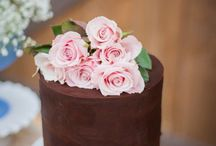 ganache & succulents Cake