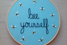 Embroidery Hoop Love / home decor projects made from embroidery hoops and a little love