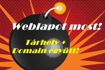 Weblapkészítés / Szép és okos honlapot mindenkinek!  Programozói tudás nélkül, gyorsan, megfizethető áron.