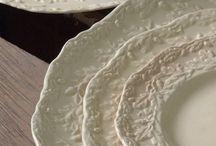 Cream pottery