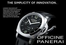 Panerai / Since its creation in 1938 for the Italian Navy, Panerai watches have become a legend by collectors and enthusiasts as a result of its unique identity and its rarity. Distinguished by four fundamental aesthetics of the watch's design- simplicity, purity, elegance and functionality - Panerai timepieces continue in the spirit which unites Italian design and the art of Swiss watchmaking.