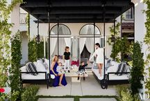 At Home with Kourtney and Khloe Kardashian / Visit the sisters at their gorgeous California homes, designed by AD100 talent Martyn Lawrence Bullard and featured in our March 2016 issue / by Architectural Digest