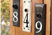 domovní čísla