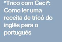 Tradução de inglês p português de explicação de pontos de tricot