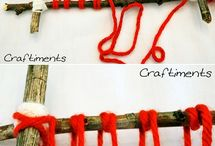 Kids nature weaving