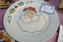 navidad platos