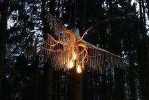 Wurzeldesign / Wurzelleuchten, Lampe, Licht, Wurzel, Design, Kristalle, Wald, Dunkel, Handgemacht, made in Germany