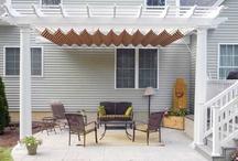 Retractable Canopy / Beautiful retractable canopy for the pergola