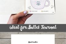 bullet journal, trackers