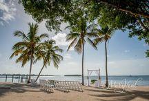 Wedding Ceremony / Stunning Beach Wedding Inspirational Ideas At Key Largo Lighthouse Beach Wedding Venue in the Florida Keys