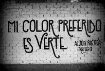 Frases muros / Acción poética