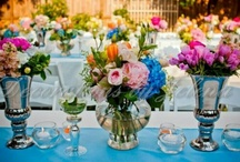 Garden Theme Wedding Styling / Perfect for a Spring time wedding - the garden theme is always a popular choice with beautiful colours.