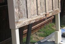 DIY - Antique Door Headboard