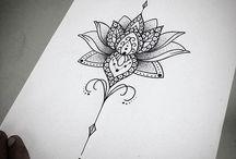 Lotusblomma svart