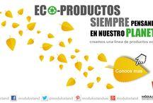 Eco -productos / Modulostand siempre esta pensando en el planeta, por eso creamos una linea de productos ecologios, para que tu compañia se de a conocer de forma ecologica