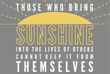 """BB: Sunshine in a Box / For family/friends needing a bit of """"sunshine"""" & cheer. :) *""""How wonderful yellow is. It stands for the sun."""" --Vincent Van Gogh*  *Those who bring sunshine into the lives of others cannot keep it from themselves. -James M. Barrie -* / by Basement Betty's"""