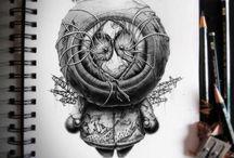Draw / Desenhos feitos a lápis.
