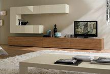 ścianka TV z półkami