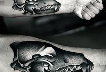 Pointilism tatt / Tattoo