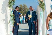 Mychie & Aris' Wedding in Santorini