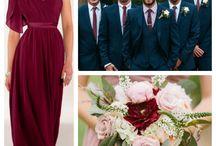 Bridemaids dresses marsala