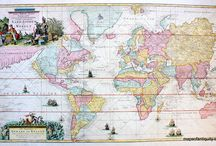World Maps / Maps of the world, mostly antiques and some reproductions.