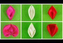 Kanzashi petals tutorial