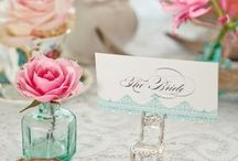 pink, mint and gold wedding