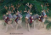 altre renne con legno