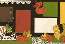 Scrapbooking Fall/Thanksgiving/Halloween