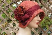 Cloche hat / 1920, 1930 for a textile art piece