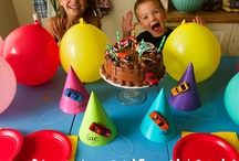 Max's 3rd birthday / He wanted an animal party, but now it's switched to cars. / by Katharine H