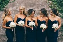 Bridesmaids dresses/ hair/ make up/ gifes