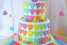 Tortas arcoíris