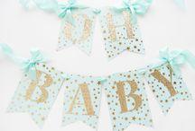 Baby Shower & Baby Willkommensparty / Babyshower Party, Geschenkideen zur Geburt, Glückwunschkarten, Dekoration, Einladungen, DIY-Ideen