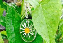 Handmade  Resin Jewelry flowers & nature