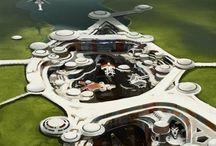sci-fi urban architecture
