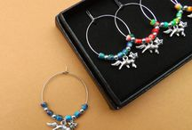 Wine Glass Charms by Kate Dengra / Clip one round the stem of your glass to distinguish it from others.