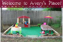 Kids outdoor play area