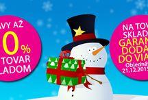 Zľavy až 70% + Garancia dodania do Vianoc  na tovar na sklade. www.market24.sk/na-sklade/ / Zľavy až 70% + Garancia dodania do Vianoc  na tovar na sklade. www.market24.sk/na-sklade/ Využite poslednú možnosť na nákup Vianočných darčekov. Vyberte si z ponuky našich skladových zásob  a my vám garantujeme dodanie kuriérom do Vianoc. Na výber viac ako 6000 položiek u nás na sklade. Platí pre objednávky do 21.12.2015 do 16:00 na TOVAR NA SKLADE.