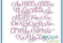 Embroidery Fonts / by Nicole Clemente