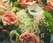 Brickyard Bride / Spring wedding using lush garden roses, hydrangea, anemone, astilbe, hypericum and wax flower.