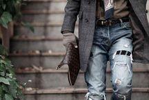 мужик в джинсах