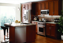 Glenwood Beech / Pictures of Kitchen Kompact's Shaker Flat Panel Cabinet Stlye, Glenwood Beech