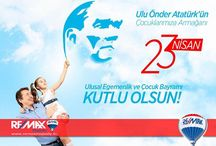"""APRIL 23 INTERNATIONAL CHILDREN'S DAY / """"Sovereignty belongs unconditionally to the people""""  M. Kemal Atatürk   APRIL 23 INTERNATIONAL CHILDREN'S DAY  http://www.remaxmajesty.com/"""