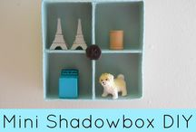 """OUUF .....mini mimi / Retrouvez plein d'idées à essayer, adapter, découvrir, détourner avec les fournitures reçues dans l'envoi du mois de février 2014 sur le thème de """"Toute mini mimi"""" avec les techniques : shadow box mini, mini perles hama, broderie sur gaze, tissage mini, mini hexie, aimant, bijou (http://www.onceuponunefois.com)  / by Once upon"""