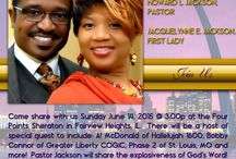 LOVE OUTREACH MINISTRIES / Come share with us Sunday June 14, 2015 @ 3:00p at the Four Points Sheraton in Fairview Heights, IL.  There will be a host of special guest to include: Al McDonald of Hallelujah 1600, Bobby Connor of Greater Liberty COGIC, Phase 2 of St. Louis, MO and more!  Pastor Jackson will share the explosiveness of God's Word!  We are excited that God has found favor in our lives.  Come be a part of this anointed vision and experience God's awesome power in our first worship service