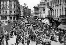 Old photos about Bucharest, Romania
