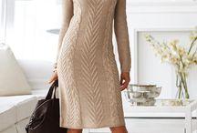 Hand knit dress