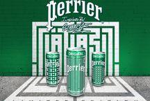 Perrier - Campagnes Publicitaires / Perrier, marque d'eau gazeuse avec de belles campagnes publicitaires